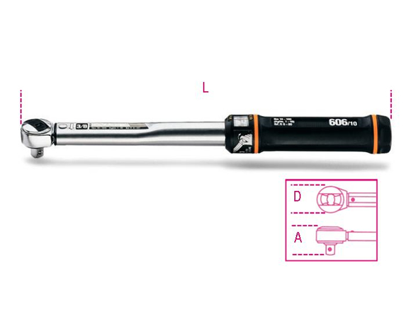 "Beta torque wrench 1/4"" 5-25Nm [666N/2]"