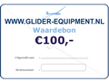 Glider-Equipment gift voucher 100 Euro [