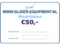 Glider-Equipment waardebon 50 Euro [GE-W
